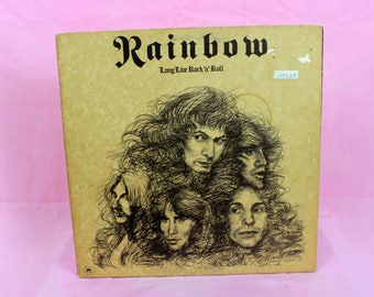 Rainbow - Long Live Rock & Roll -  Vintage Vinyl LP Record -1978 First Pressing Polydor Records. Rare Classic Psychedelic Stoner Rock.