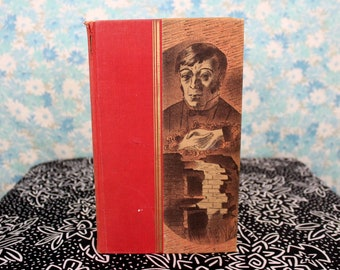 Jane Eyre by Charlotte Bronte 1942 Antique Hardcover Collectible Hardcover Book with Illustrations by Barnett Freedman. Bronte Gift Book