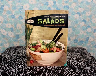 1950s Retro Atomic Age Cookbook. Mid Century Salads Cookbook. 50s Recipe Book. Goodhousekeeping's Company Salads Cook Book Cookbook