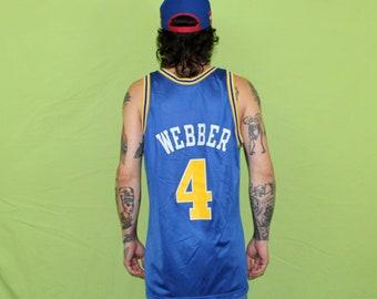 Chris Webber Vintage NBA Jersey. Golden State Warriors Retro Old School 90s Basketball  Jersey. 90s Champion Brand Webber Warriors Jersey c54a4b6d4