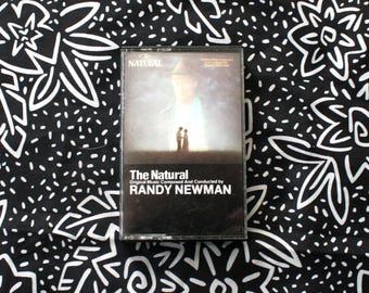 The Natural - Randy Newman Orginal Soundtrack Cassette Tape. Vintage Robert Redford The Natural Baseball Movie Soundtrack Tape Cassette