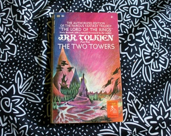 Lord Of The Rings The Two Towers By J.R.R. Tolkien. 1970s Vintage Paperback Second of The lotr trilogy. 70s TOlkien LOTR Paperback