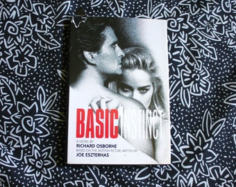 Basic Instinct Hardcover Novelization Book. Basic Instinct By Richard Osbourne. Sharon Stone Sex Movie Book. Erotica Book.