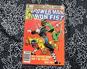Power Man And Iron Fist #74 Vintage Marvel Comic Book. 1981 Retro Comic Book. Bronze Age 80s Luke Cage Power Man Comic Book.Chaka Appearence