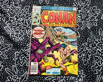 Conan The Barbarian #87 Vintage Marvel Comic Book. 1978 Barbarian Fantasy Bronze Age Comic. 70s Conan Bronze Age Comic Book.