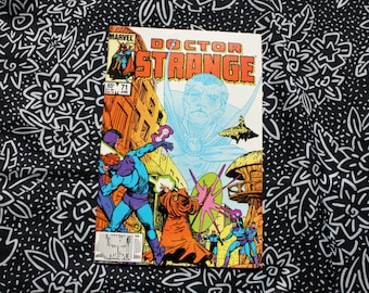 Doctor Strange #71 Vintage 1980s Bronze Age Comic Book. Rare 80s Doctor Strange Collectible Comic Book