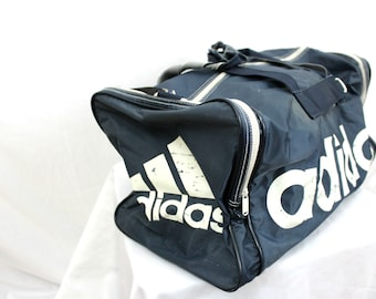 Vintage Adidas Duffel Bag. 90s Hip Hop Overnight Duffel Bag. Retro 80s or  90s Carry On Bag. Old School Adidas Logo Duffel Bag. 73c0d5894f97b