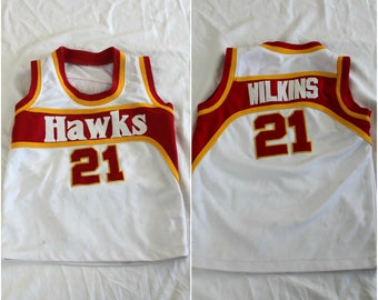 a52fddade Vintage Baby Kids Toddler Dominique Wilkins Atlanta Hawks Embroidered NBA  Jersey.Rare Vintage Kids Stitched NBA Atlanta Hawks Wilkins Jersey