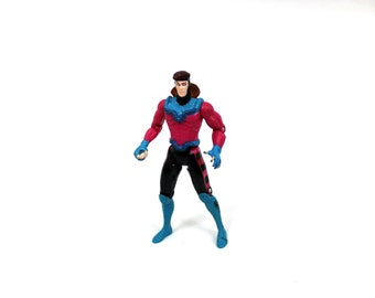Vintage Gambit Action Figure. Marvel Comics Uncanny X-Men Retro Superhero Gambit Action Figure. 90s Comic Book X-Men Action Figure