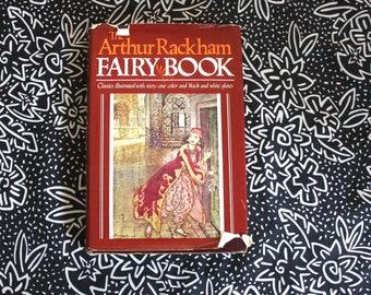 The Arthur Rackman Illustrated Fairy Tales Hardcover Book. Rare 1978 Fairy Book Hardcover. Beauty And Beast, Jack Beanstalk, Aladdin, More
