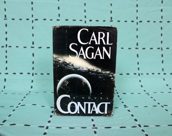 Carl Sagan - Contact Vintage First Edition Printing Hardcover Book. 1985 First Edition Hardcover. Carl Sagan's Sci Fi Fiction Novel.