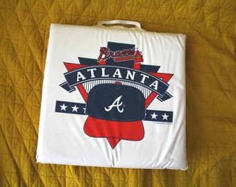 Vintage Atlanta Braves Seat Cushion. 1990s Braves Collectible Souvenir. Rare Seat Cushion From 1993 Atlanta Braves