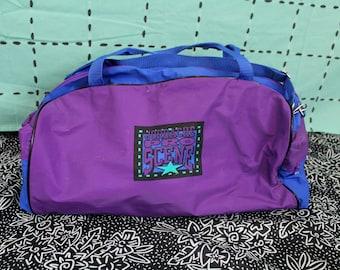 4d3fe3dca6a2 Vintage Jordache Duffel Bag. 80s 90s Overnight Duffel Bag. Retro 80s or 90s  Carry On Bag. Old School Jordache Jeans Duffel Bag.