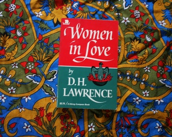 Women In Love By DH Lawrence 1975 Vintage Paperback Book by Viking Press. Rare DH Lawrence 70s Paperback Book