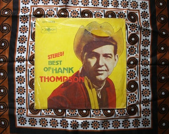 Hank Thompson - The Best Of Japanese Vintage Vinyl LP Record Album. Rare Original 1950s Country Music. Rare Japanese Pressing