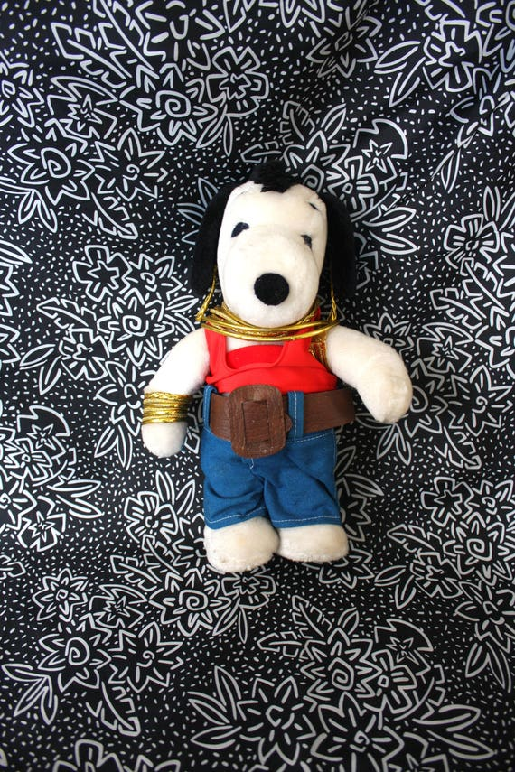 Mr T Snoopy Stuffed Animal Vintage 80s Rare Peanuts Snoopy Etsy