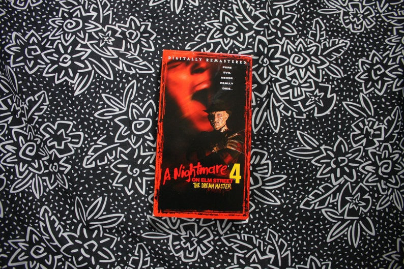 Nightmare On Elm St  4: The Dream Master VHS Tape  Rare 80s Horror Movie  Classic VHS 1988 Release  Freddy Krueger 1980s movie by Wes Craven