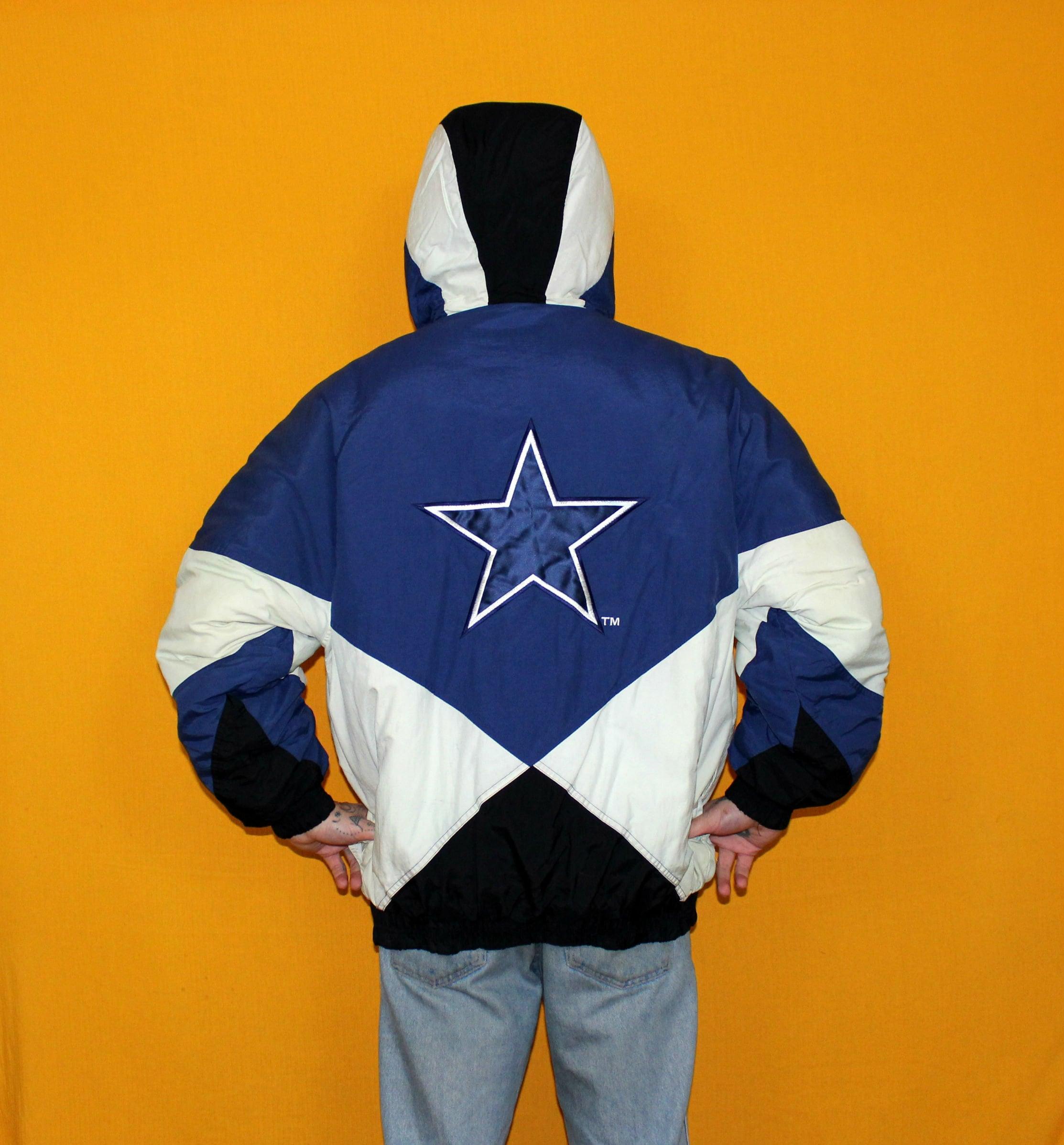 08ce2becc Vintage Dallas Cowboys Puffer Jacket. 90s Blue