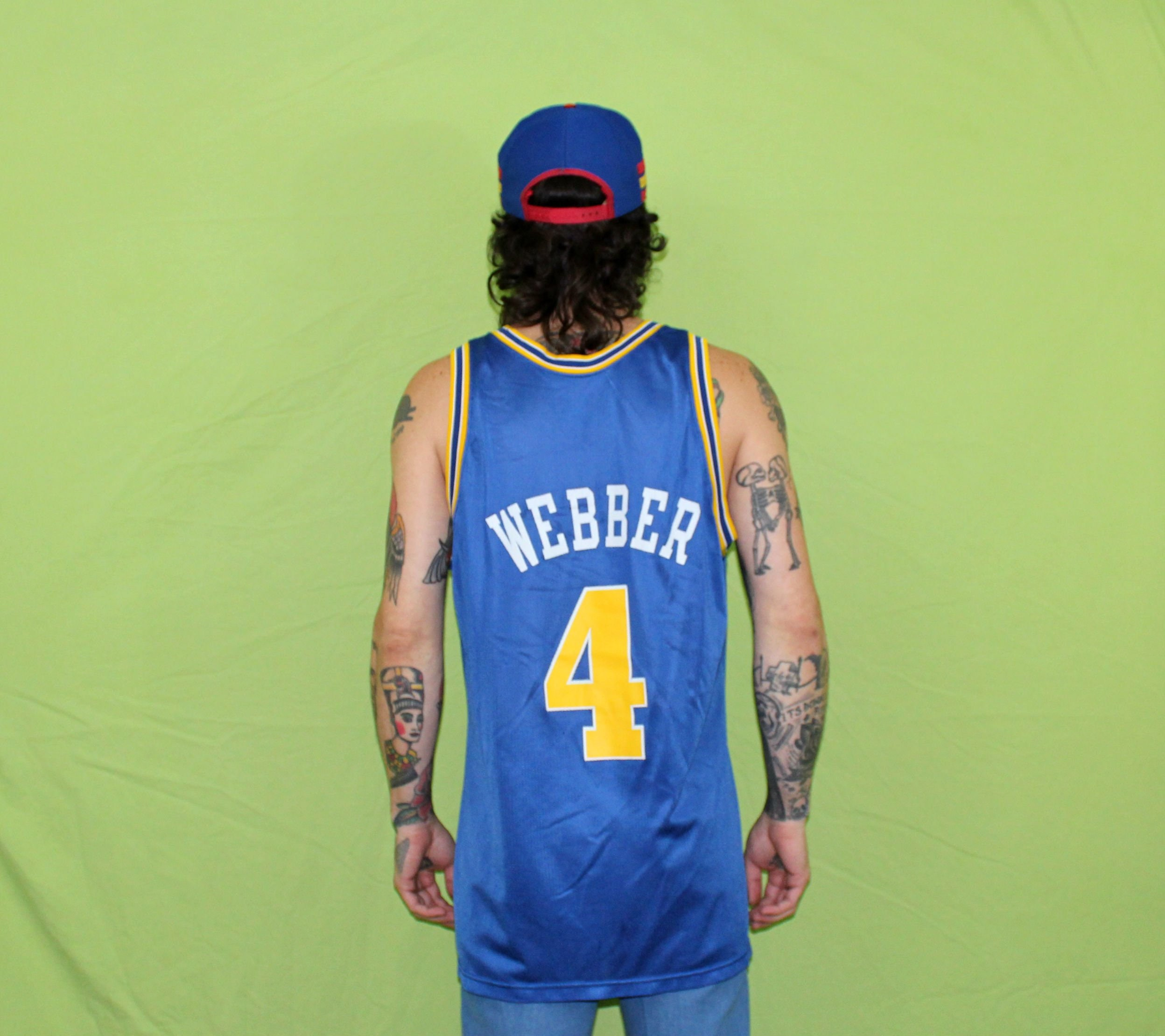 d09e13a490f ... promo code for chris webber vintage nba jersey. golden state warriors  retro old school 90s