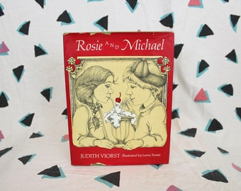 Rosie And Michael By Judith Viorst. Rare 1974 First Edition Hardcover Childrens Book.Kid Gift.Early Reader Gift Book.Illustrated Lorna Tomei