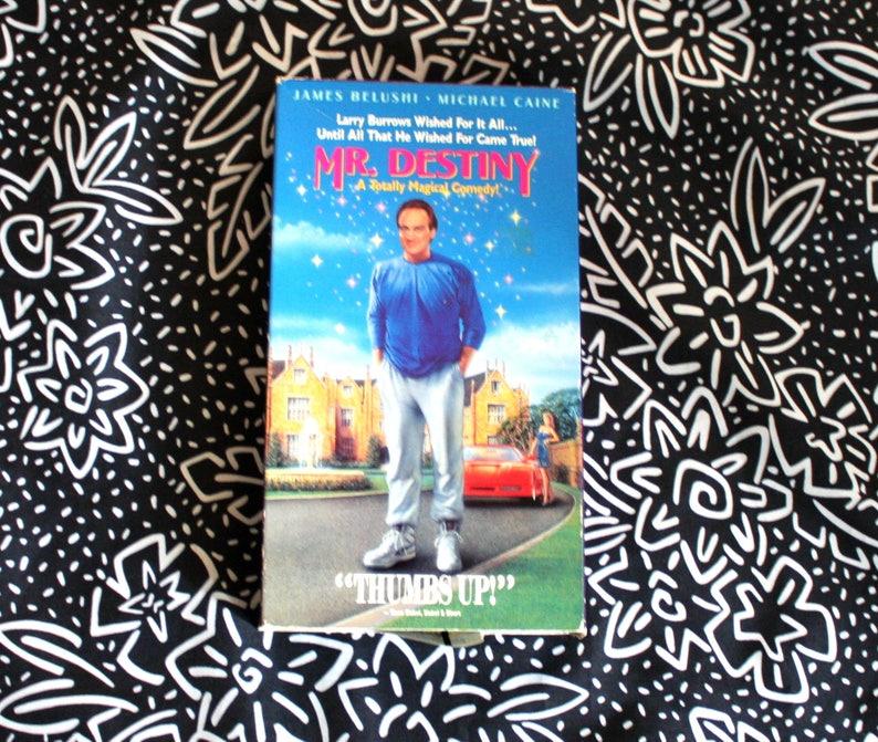 Mr  Destiny VHS 1991 James Belushi Michael Caine Jon Lovitz Courteney Cox  Movie  90s Fantasy Comedy  Directed By James Orr