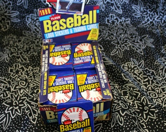 1988 Fleer Vintage MLB Baseball Trading Cards. One Unopened Pack of Fleer MLB Baseball Cards From Late 80s.