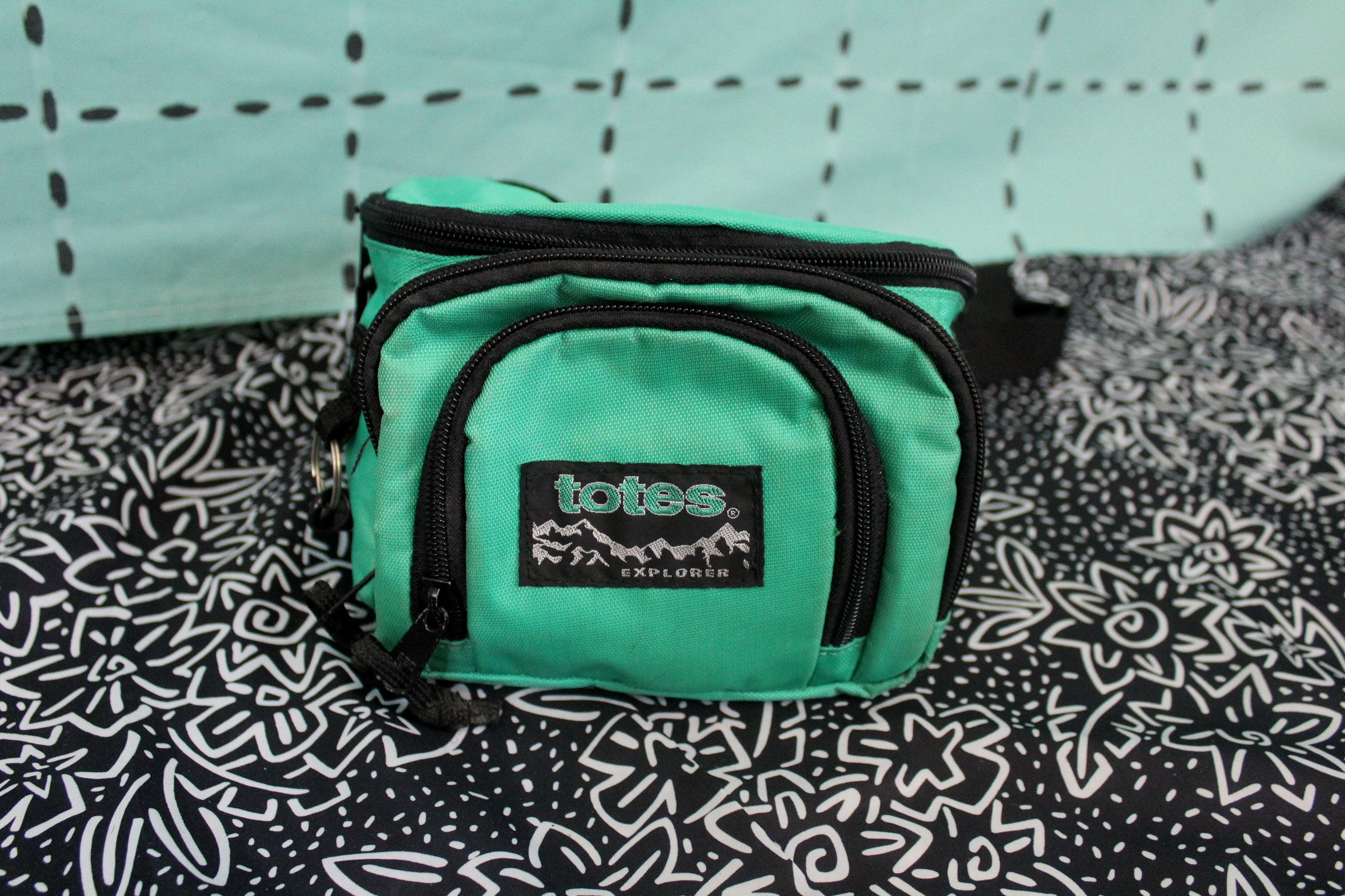 d6c10cf10f94 Vintage 80s or 90s Seafoam Green Neon Hipster Fanny Pack. Rare Funky Neon  Totes Hipster Neon Mint Green Fanny Pack. Womens Men 80s Accessory