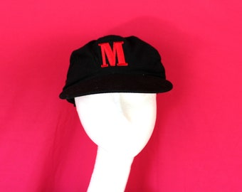 Vintage Marlboro Hat. Vintage 90s Black Red Marlboro Hat. 90s Tobacco Collectible Hat. RJR Tobacco Marlboro Hat. Cigarette Smoker Gift.