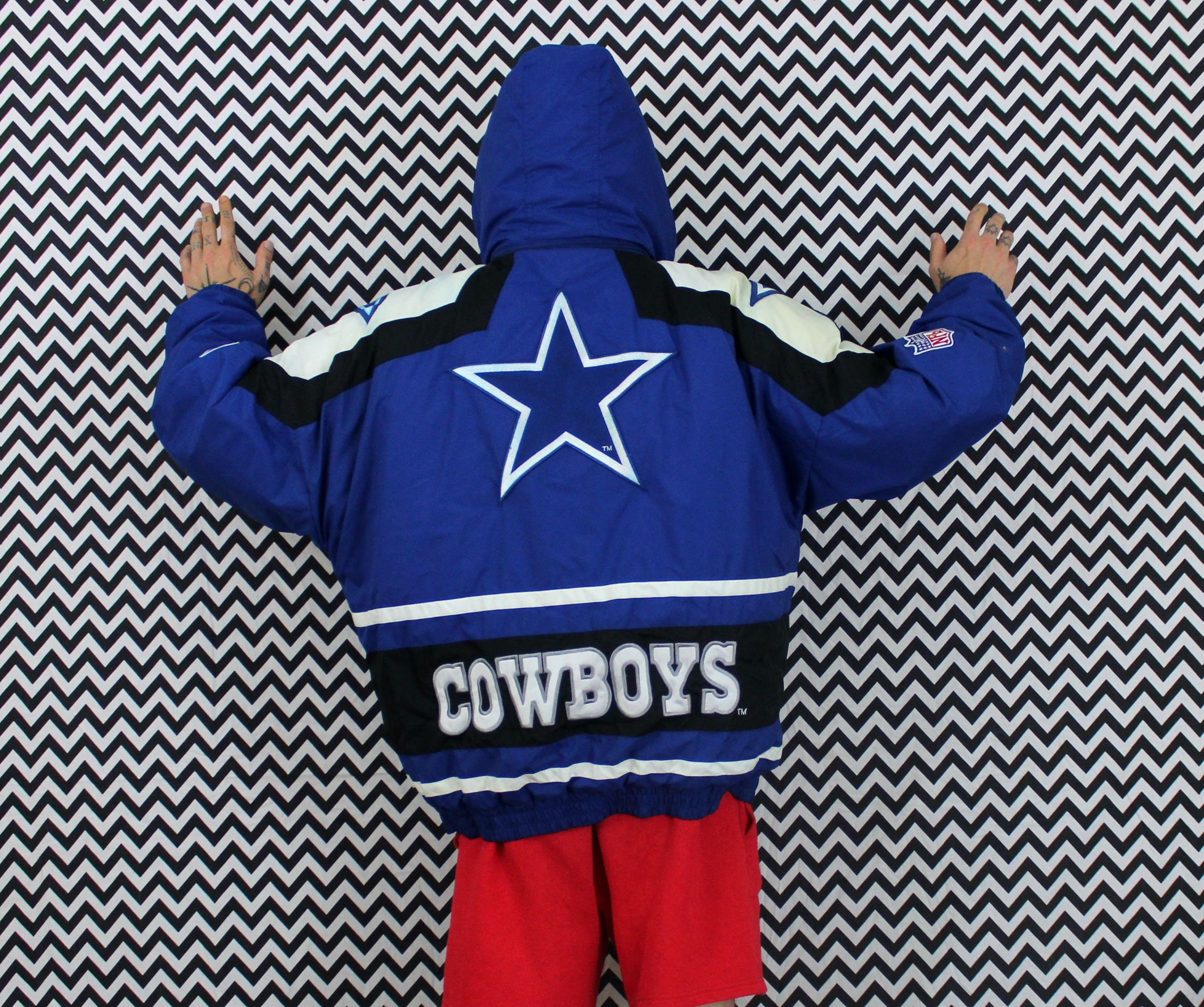 Vintage Dallas Cowboys Apex One Jacket With Removable Hood. 90s Blue ... 61fa39eb0