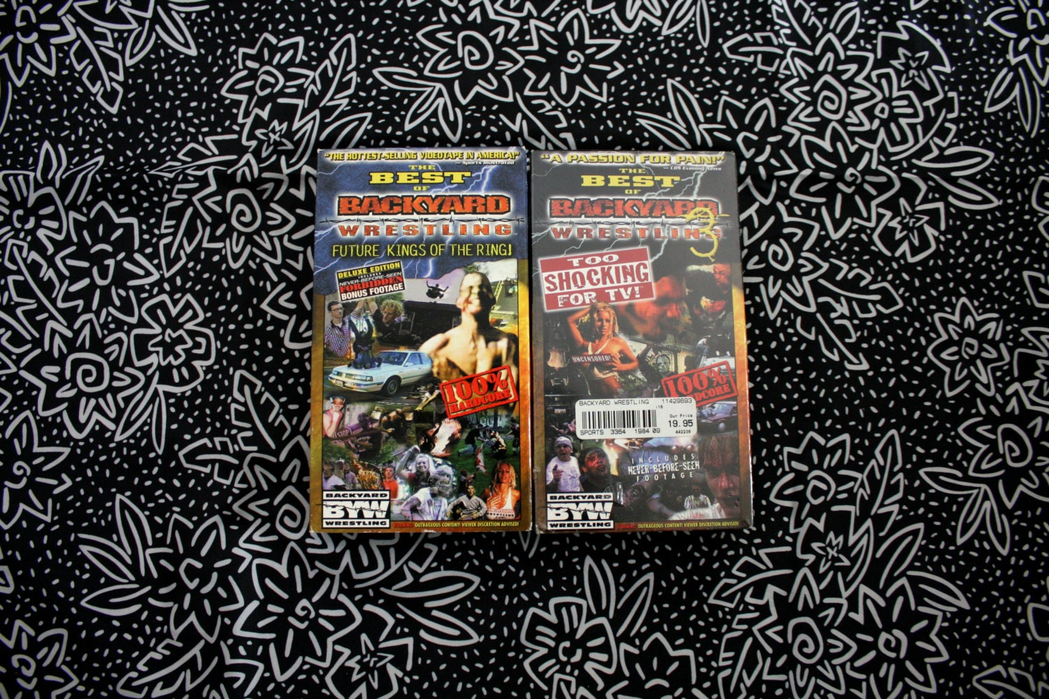 Best Of Backyard Wrestling the best of backyard wrestling vol. 1 and 3 vhs tapes. rare extreme