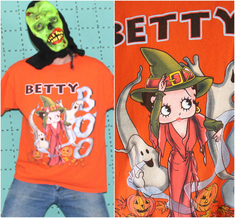 betty boop vintage halloween t shirt. vintage betty boop cartoon tee