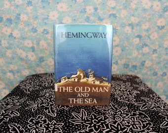 The Old Man And The Sea by Ernest Hemingway. First Edition Early Printing Vintage Hemingway Hardcover Book. 1952 Old Man And The Sea Gift