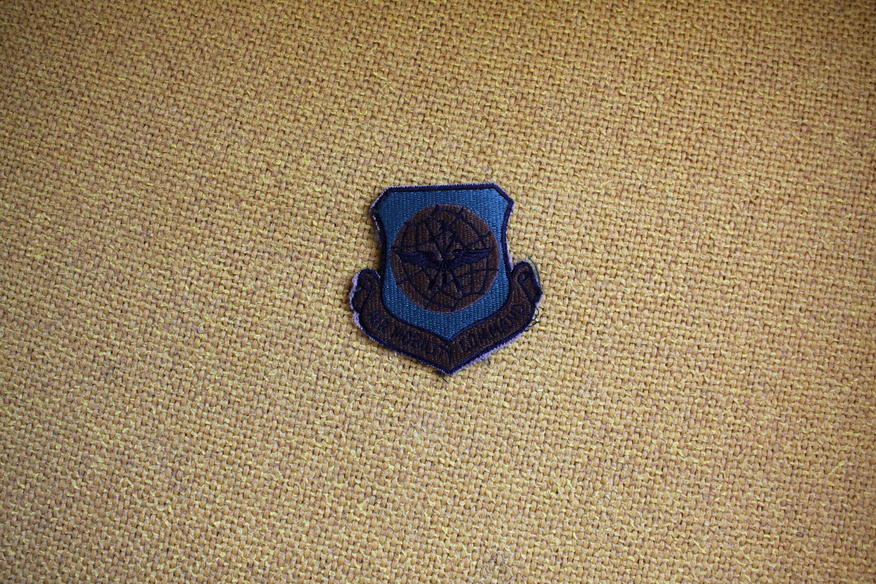 Vintage Air Mobility Command Embroidered Patch 70s Or 80s Rare Force Army Green Military