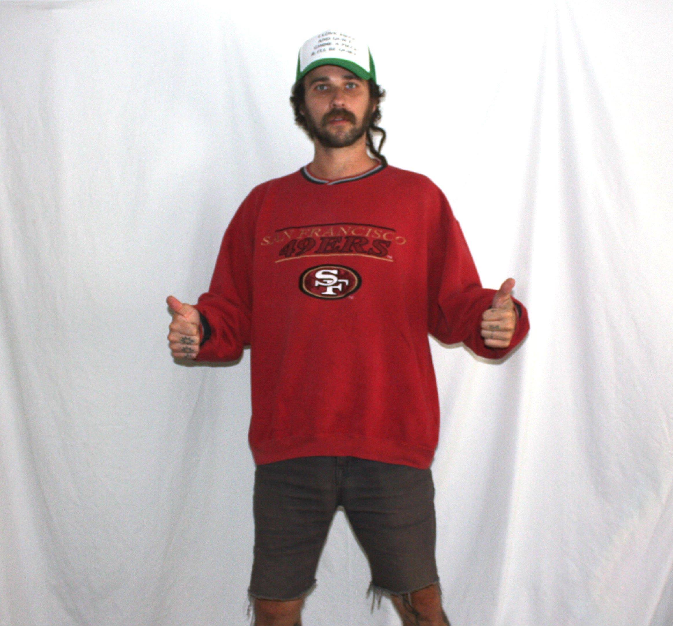 d61b09f38af San Francisco 49ers Vintage 90s Crewneck Sweatshirt. Retro Throwback NFL  Football Collectible Shirt. 2XL 90s Hip Hop NFL 49ers Joe Montana