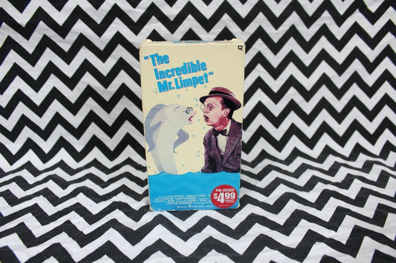 399db54bf2ad The Incredible Mr. Limpet Vintage VHS Tape. Classic Kids