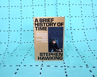 Stephen Hawking - A Brief History of Time 10th Anniversary Edition 1980s Trade Paperback on Space Time and Reality