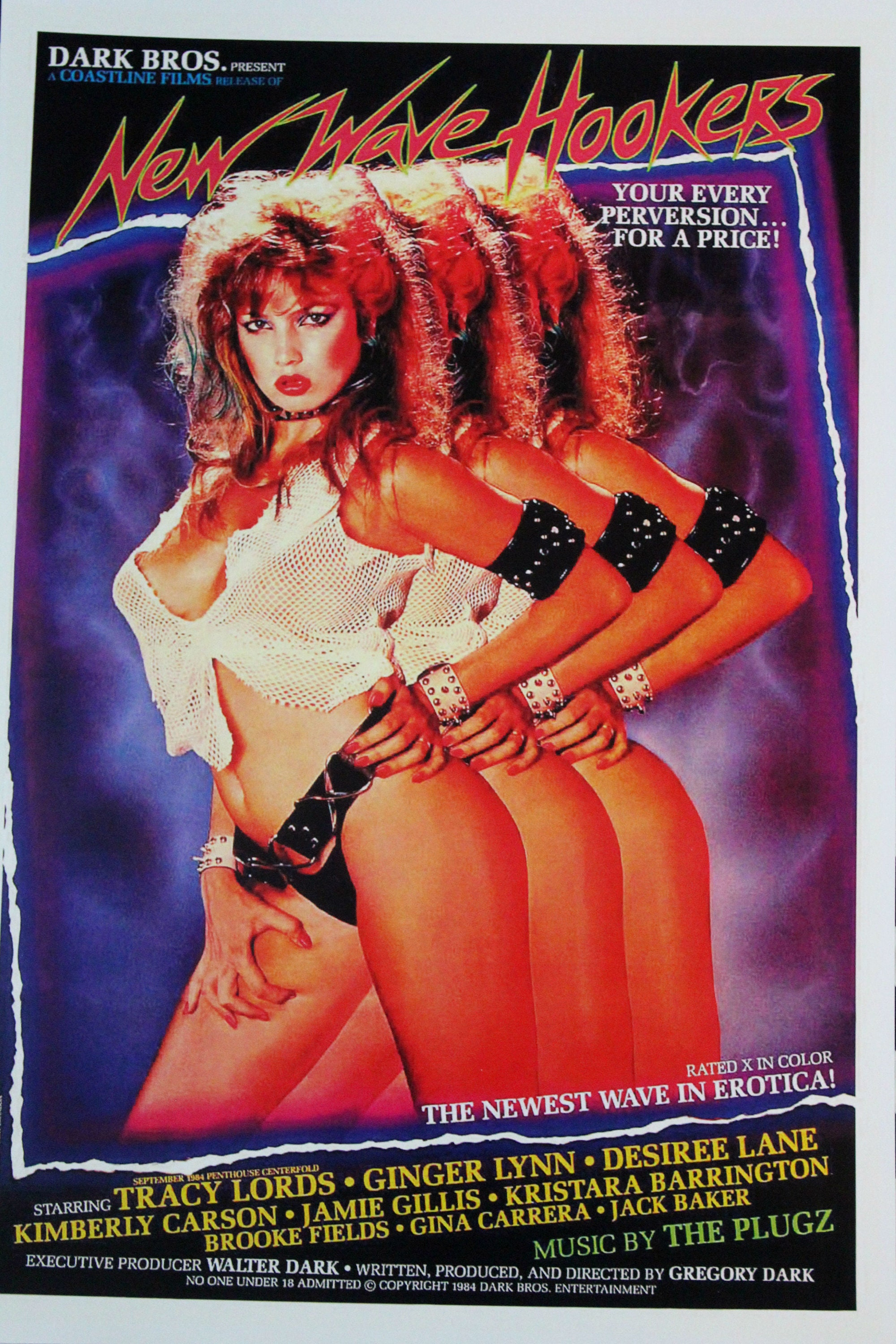 Vintage Porno Poster. New Wave Hookers Retro 80s Porno VHS Cover Limited  Print. Sexy 80s Punk Retro Porn Art Deadstock. Limited Porn Art
