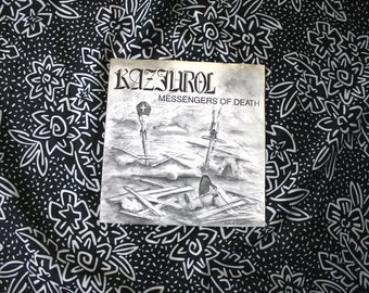 "Kazjurol - Messengers Of Death -  Rare 80s Swedish Punk Vintage Vinyl 7"" Record. Rare 1987 Thrash Punk Discharge Style Crust Punk Rare 7"""