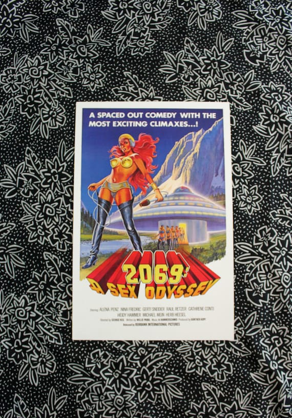 Campy Retro Porn Art Poster. 2069: A Sex Oddyssey Limited Poster Print. X  Rated 70s 80s Porn Art Poster. Man Cave Gift For Him. Erotic Art