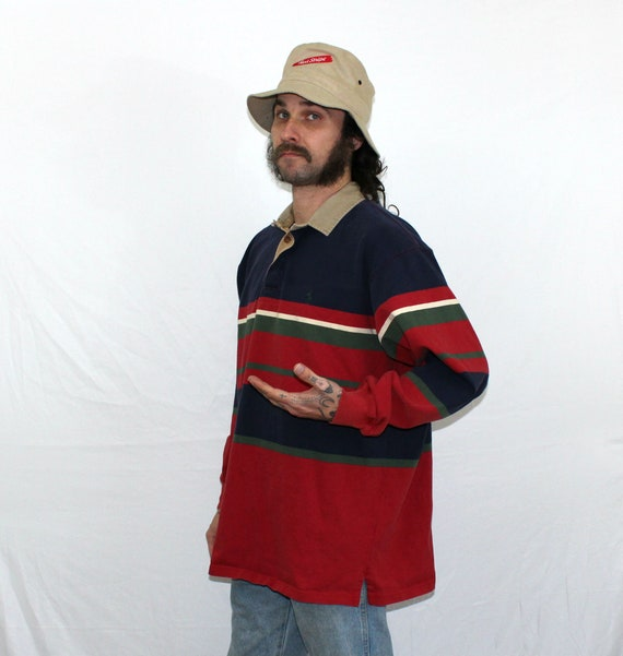 2ce3f05b1a0be 90 s Polo Polo Polo Ralph Lauren Long Sleeve Shirt à rayures. Chemise homme  vintage des ...