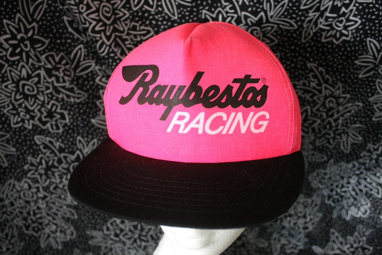 bd2ec2b183da75 Vintage Raybestos Racing Hot Pink Baseball Cap. Neon Pink 90s Racing Retro  Hat. Retro 90s Pink Snapback Nascar Racing Baseball Cap.
