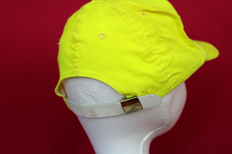 58f45395593c3 Vintage Banquet Racing Neon Yellow Baseball Cap. Retro 90s Neon Hat ...