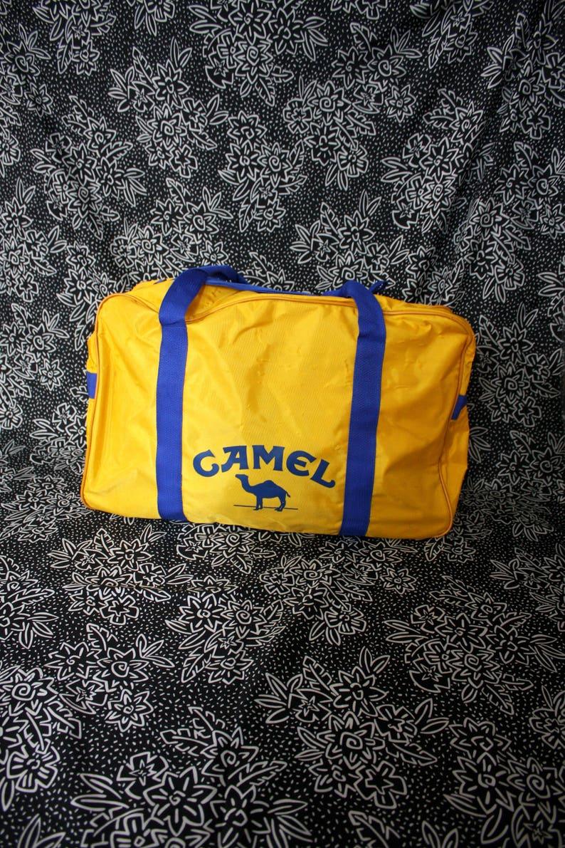 326b3644caac Vintage Camel Cigarettes Duffel Bag. Large Camel Cigarettes