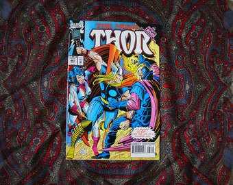 The Mighty Thor Vintage Comic Book #467  Vintage 90s Marvel Modern Age Comic Book. 1986 Retro Vintage Superhero Comic Book