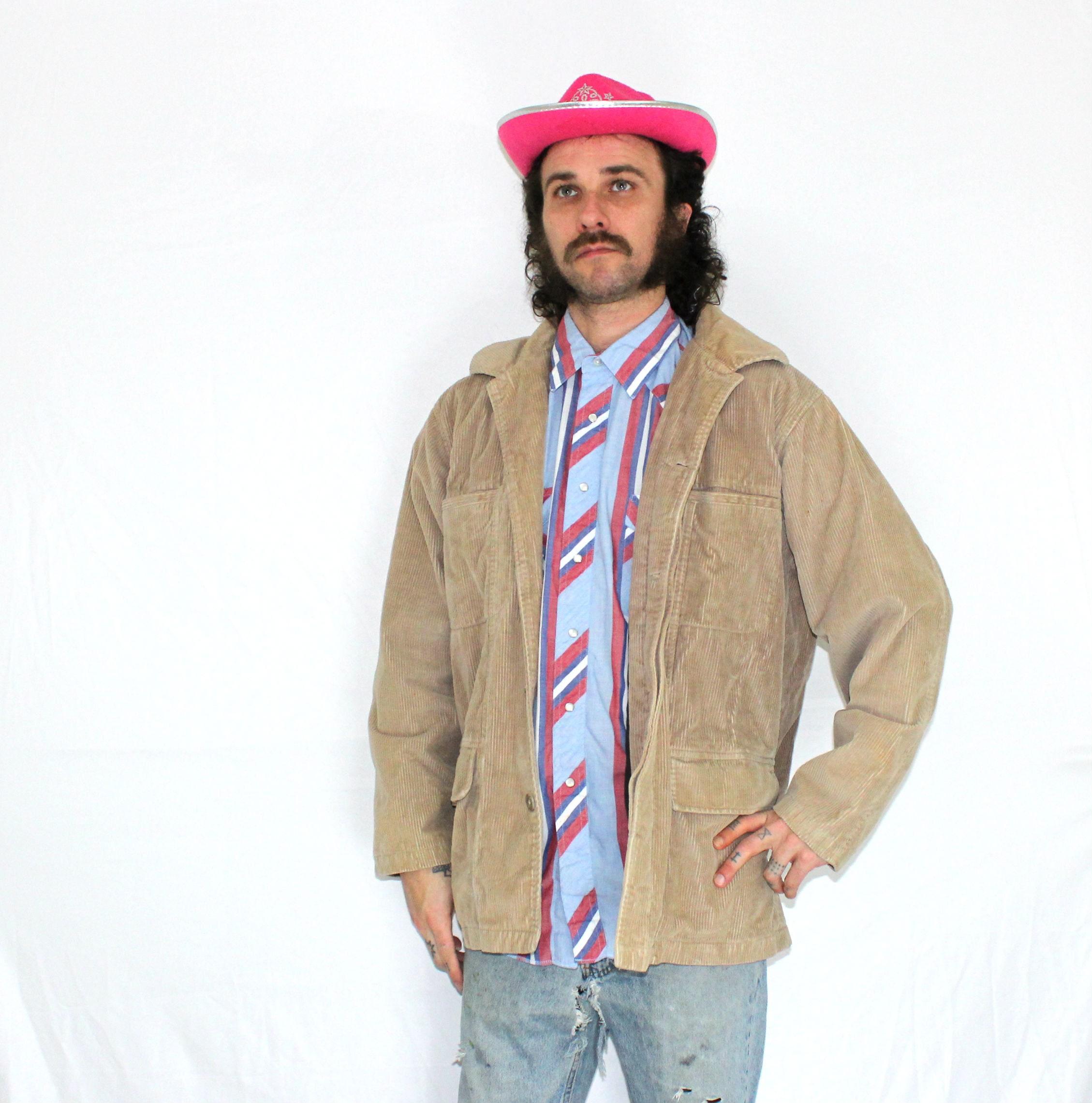 e6362279d0a Vintage Corduroy Marlboro Men s Jacket. 90s Marlboro Man Cowboy Boho  Rancher Winter Jacket. Large Warm Marlboro Smokers Corduroy Coat