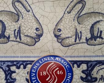 Bunny Rabbit Linen Dish Tea Towel Vintage Henry Ford Museum /& Greenfield Village