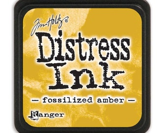 Ranger - Tim Holtz - - Distress Mini Ink Pad - Open Stock - Fossilized Amber