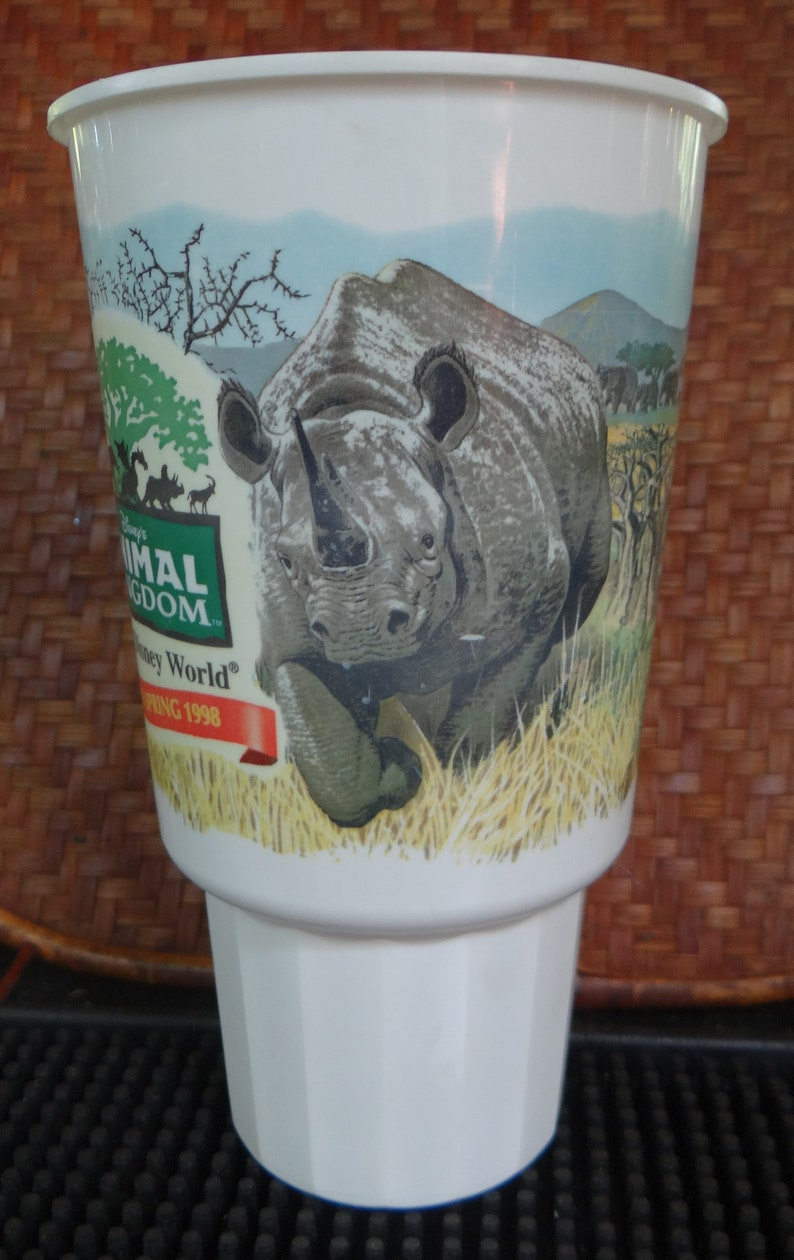 McDonald/'s Vintage Plastic Vehicle Drink Holder To-Go Cup Celebrating the Pre-Grand Opening of Disney/'s Animal Kingdom Theme Park in 1998
