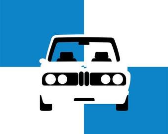 1974 BMW 2002 Graphic Print
