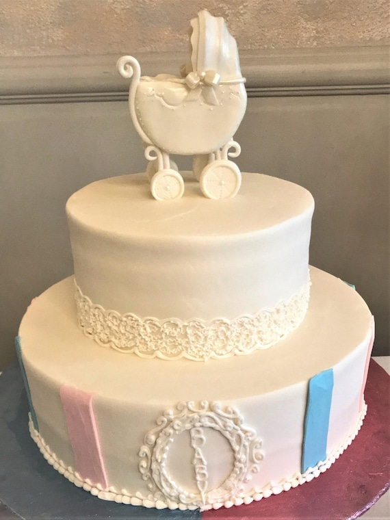 Stroller cake topper Baby Shower cake topper Baby carriage | Etsy